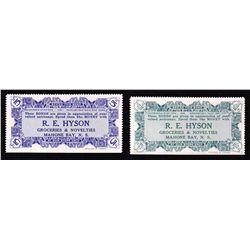 Lot of 2 R.E. Hyson Script 1924