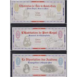 Lot of 3 Nova Scotia Scrip & Commemorative Coins