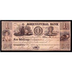 1835 Agricultural Bank $1