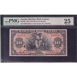 1935 Barclay's Bank $10