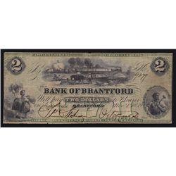 1859 Bank of Brantford $2