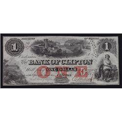 1859 Bank of Clifton $1