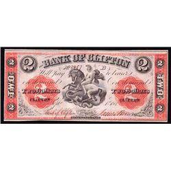 1861 Bank of Clifton $2