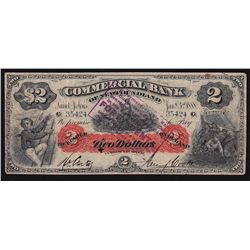 1888 Commercial Bank of Newfoundland $2