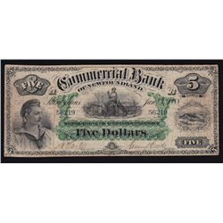1888 Commercial Bank of Newfoundland $5