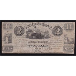 1837 Henry's Bank $2