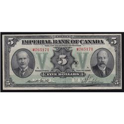 1923 Imperial Bank of Canada $5
