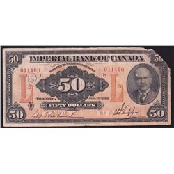 1923 Imperial Bank of Canada $50