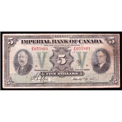1933 Imperial Bank of Canada $5