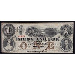 1858 International Bank $1.