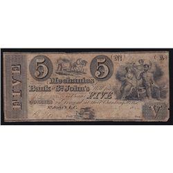 18__ Mechanics Bank of St. John's $5