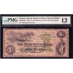 1889 Merchant's Bank of Prince Edward Island $1.