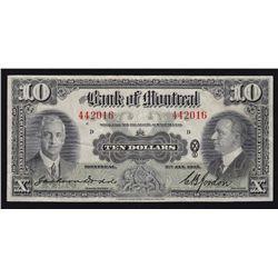 1935 Bank of Montreal $10