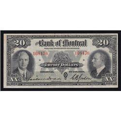 1935 Bank of Montreal $20