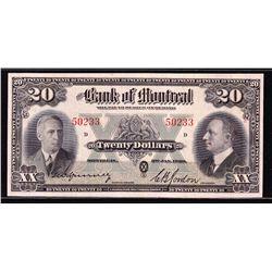 1938 Bank of Montreal $20