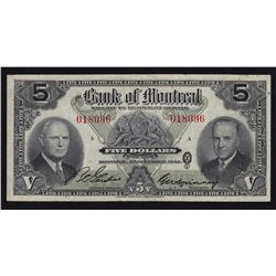 1942 Bank of Montreal $5