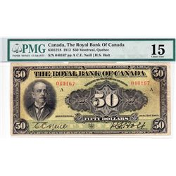 1913 Royal Bank of Canada $50.