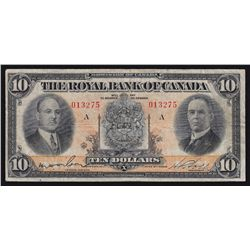 1933 Royal Bank of Canada $10