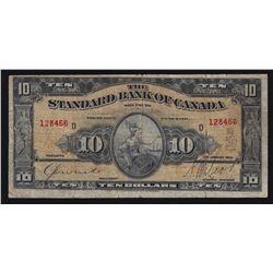 1924 Standard Bank of Canada $10