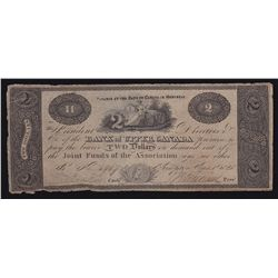 1820 Bank of Upper Canada $2