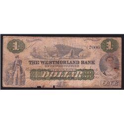 1861 Westmorland Bank $1