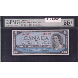 1954 Bank of Canada $5 Devil's Face
