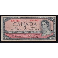1954 Bank of Canada $2 Test Note