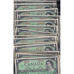 1967 Bank of Canada $1 Complete Prefix Collection