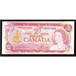 1974 Bank of Canada $2 Replacement Note