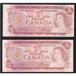 Lot of 2 Bank of Canada $2 Replacement Notes