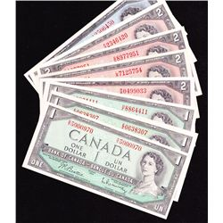 Lot of 23 Miscellaneous Bank of Canada Banknotes