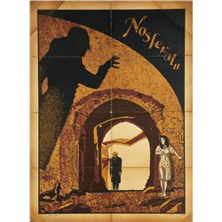 """Artificially aged """"Nosferatu"""" poster by N.E. of New Flesh Prints"""