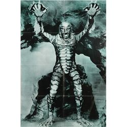 Creature from the Black Lagoon poster signed by Ricou Browning