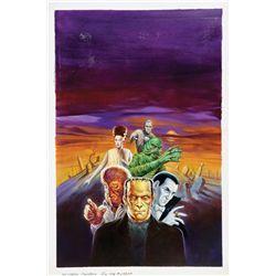 1991 Universal Monsters Big Coloring Book original artwork