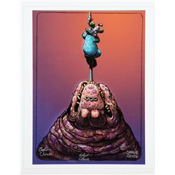 Killer Klowns from Outer Space concept print of a Klown with balloon signed by the Chiodo Bros