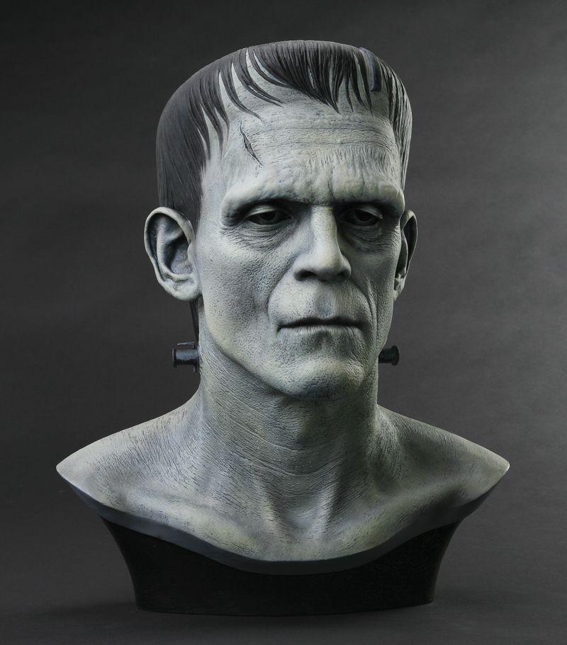 Artist Proof Boris Karloff Frankenstein head by Miles Teves