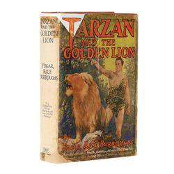 Rare Boris Karloff signed Tarzan and the Golden Lion, Photoplay Edition