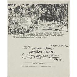 Tarzan Print signed by Burne Hogarth