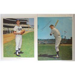 Mickey Mantle & Sandy Koufax Colored 8x10 Photos