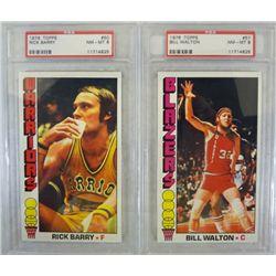 1976 Topps Basketball PSA #50 Rick Barry & #57 Bill Walton