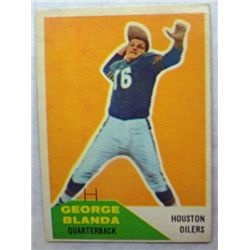 1960 Fleer Football #58 George Blanda EX