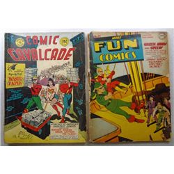 2-Vintage Comic Books 1943 #91 FUN & 1944 #6 Comic Cavalcade