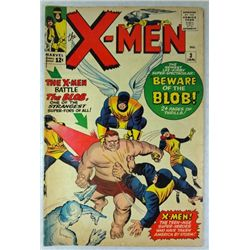 """1964 X-MEN MARVEL COMIC BOOK 1st APPEARANCE OF """"THE BLOB"""""""