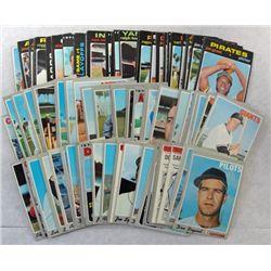 100 - 1970 to 1971 TOPPS BASEBALL CARDS.