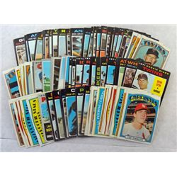 100  - mostly all different - Baseball Cards 1970 to 1972  NICE EXCELLENT