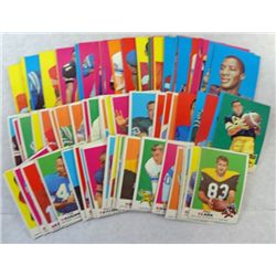 100 - 1969 TOPPS FOOTBALL CARDS - ALL DIFFERENT.  OVERALL EXCELLENT.