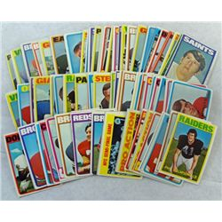 100 - 1972 TOPPS FOOTBALL CARDS - ALL DIFFERENT   NICE EM to EX