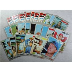 1970 Topps lot High #'s and star cards   also 7 checklist #432 unused
