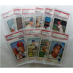 10-1973 TOPPS BASEBALL CARDS ALL PSA MINT 9