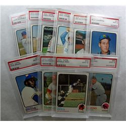 10-1973 TOPPS BASEBALL CARDS PSA MINT 9's
